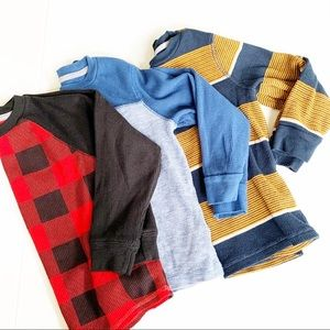 3 piece bundle Old Navy kids boys thermal shirts